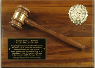 Commemorative plaque for Mayor John T. Jenkins.